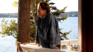 Kaiulani Lee as Rachel Carson, sea by Maine cottage