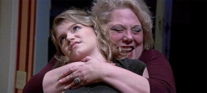 "Nancy Sherrard hugs Ruby Westfall In ""August: Osage County"""