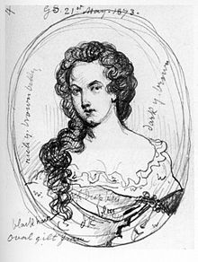 Sketch of Aphra Behn