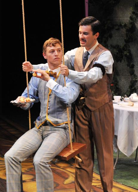 Those naughty muffin-loving boys: Hunter Paul as Algernon(l), Andi Dema as Jack (r)