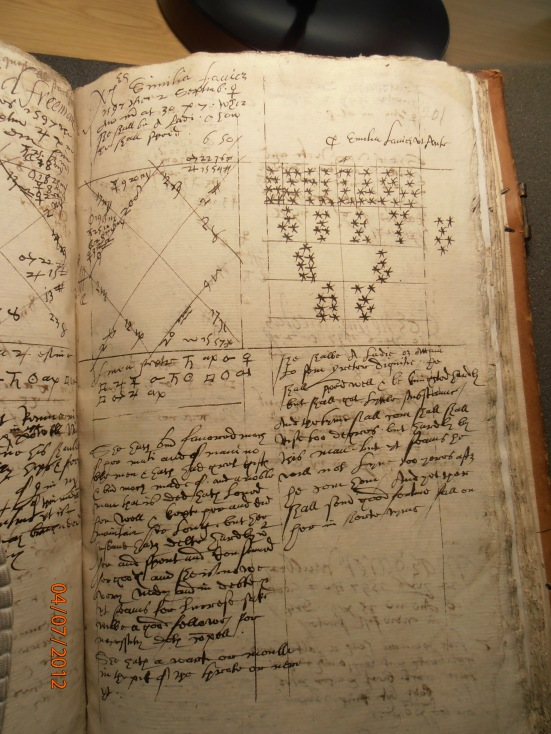 A page from Simon Forman's casebooks