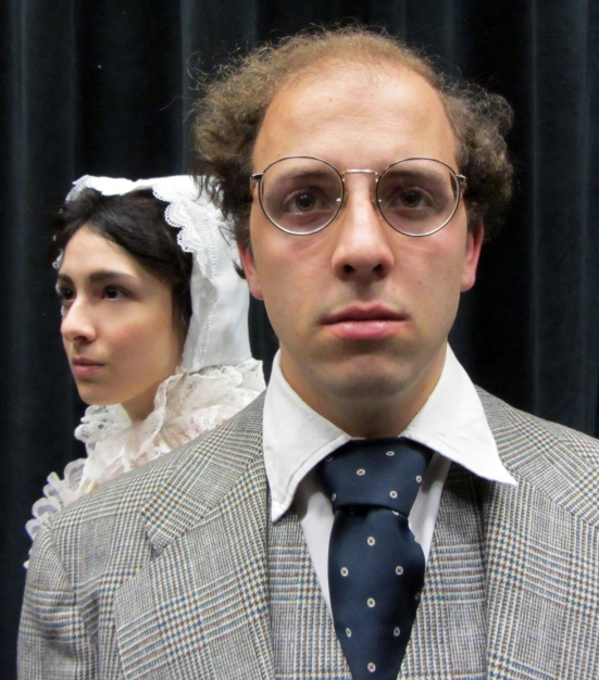UNT production promotional photo - Jake McCready as Rowse & Annie Armenta as Emlia