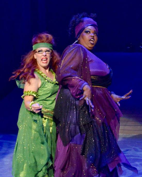 Stacia Malone as Calliope, Liz Mikel as Melpomene