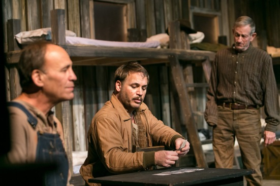 Van Quattro as Lennie, Elias Taylorson as George, Kit Hussey as Candy