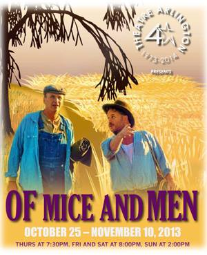 """the internal conflict within george in of mice and men by john steinbeck 76 quotes from of mice and men: 'maybe ever'body in the whole damn world is scared of each other'  i didn't mean no harm, george"""" ― john steinbeck, of ."""