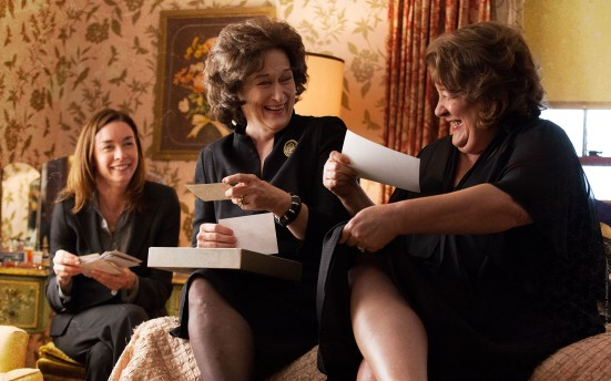 "Julianne Nicholson, Meryl Streep and Margo XX in the film adaptation of ""August: Osage County"""