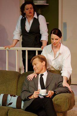 Olivia Norine as Berthe; Jen Pearce as Gloria; Ken Orman as Bernard