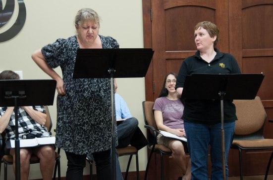 Reading rehearsal in Waco TX 2014