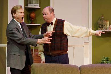 Bernard unravels! l to r Ken Orman, Jeff McGee