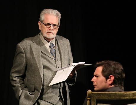 Jac Alder as A. L. Rowse; Evan Scott as HRH Prince Charles at Dallas' THEATRE THREE reading