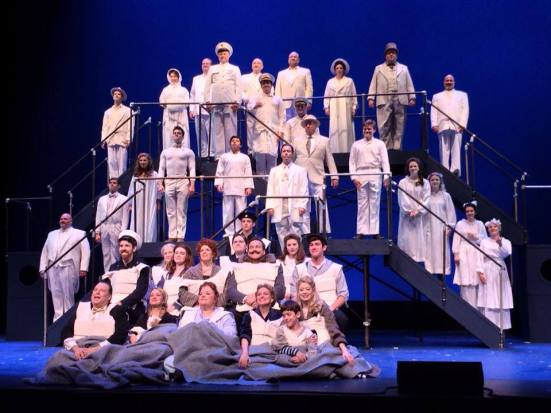 "Final shot of the cast of ""Titanic"" at Lyric Stage"