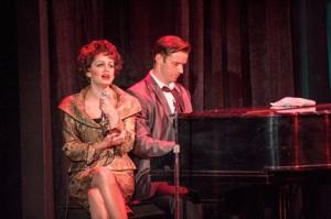 Janelle Lutz as Judy Garland, Alex Ross as Peter Allen