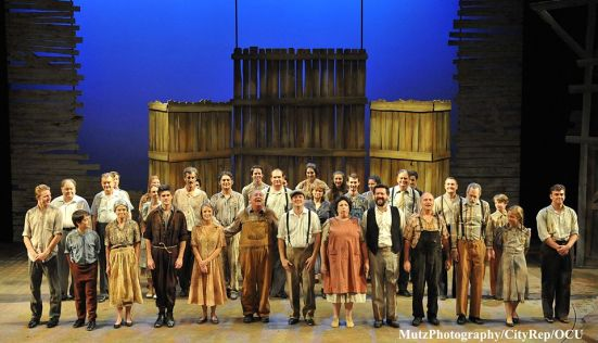The cast of Oklahoma City Repertory Theatre's The Grapes of Wrath, adapted by Frank Galati