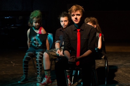Chris Rodenbaugh- Johnny ( with the Green Day Kids, left to right, Piper Cunningham, Joseph Nativi, Zoe Smithey)