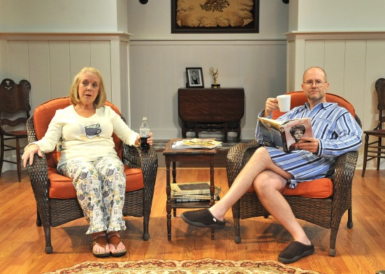 Wendy Welch as Sonia; Shawn Churchman as Vanya (rehearsal shot)