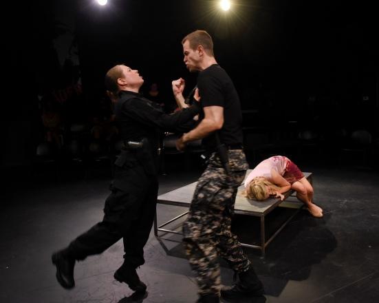 Emilia confronts Iago (Jenny Ledel, Alex Organ)