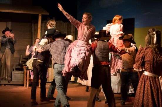 "Farmers and cowmen and their gals make merry in ""Oklahoma!"""