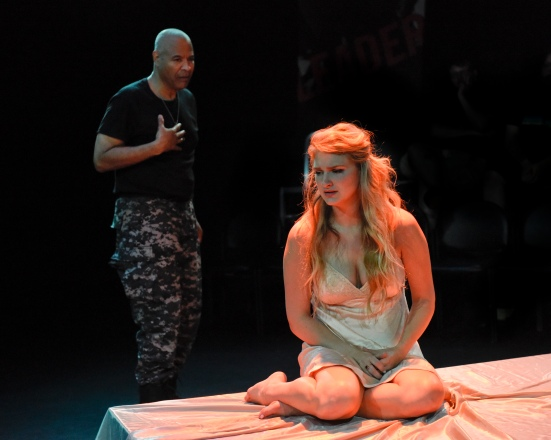 Othello and Desdemona (Tyrees Allen, Morgan Garrett)