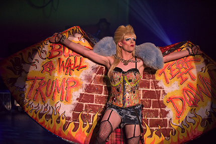 Kyle Igneczi as Hedwig in Uptown Players' Hedwig and the Angry Inch