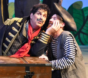 PATS. Jonathan Beck Reed as Black Stache and Matthew Alvin Brown as Smee