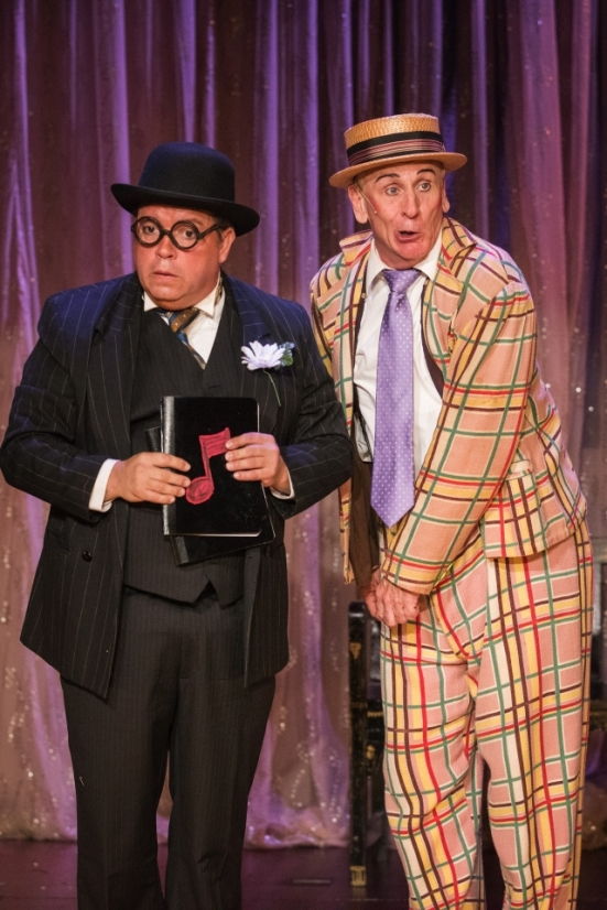 B.J. Cleveland and Bob Hess in The Nance at Uptown Players