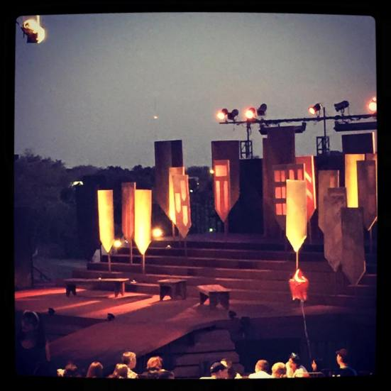 The set of Shakespeare Dallas' King Lear, designed by Donna Marquet