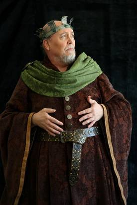 David Coffee as Lear in King Lear at Trinity Shakespeare