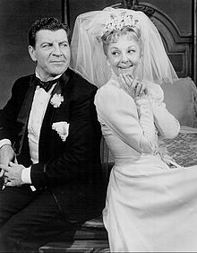 Robert Preston and Mary Martin in I DO! I DO! in 1966 on Broadway