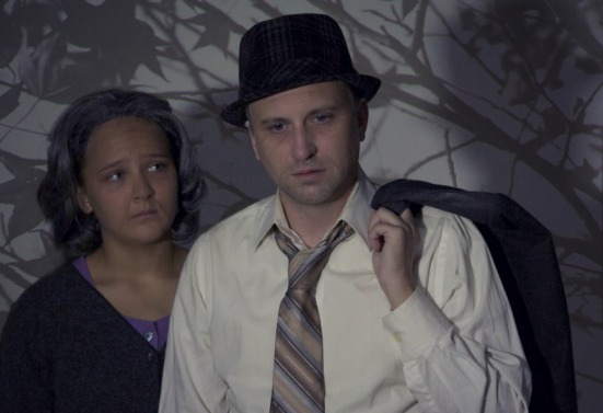 Kennedy Waterman as Linda; jeff Swearingen as Willy in Death of A salesman
