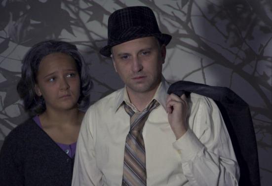Kennedy Waterman as Linda; jeff Swearingen as Willy in Death of A salesman
