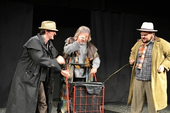 Witches in MACBETH: Mack Hays, Benjamin Bratcher, Robert Dullnig