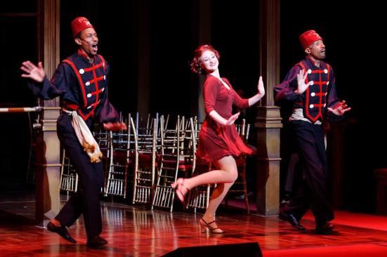 Taylor Quick, dancing with Mark Gerrard Powers and Ivan Jones
