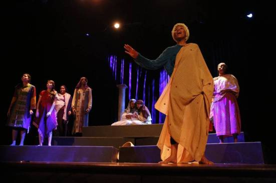 BLACK NATIVITY, Avante Perkins in foreground