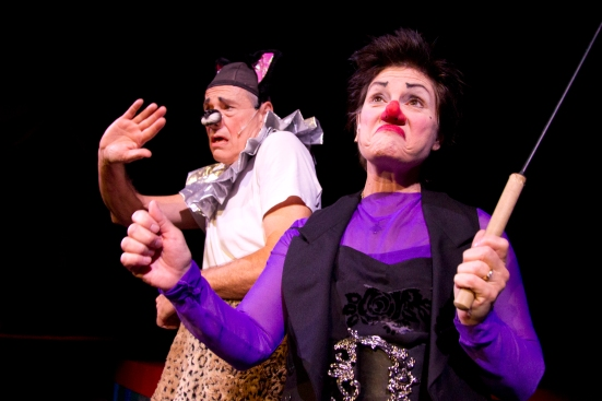 "Clowns ""Monday"" and ""Slappy"" keep the audience in stitches"
