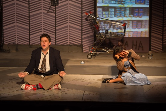 Austin Cline and Monalisa Amidar in LIP Service's Laughing Wild by Christopher Durang