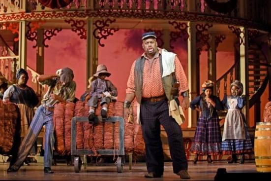 """Morris Robinson as Joe sings """"Old Man River"""" in Showboat. Karen Almond photo"""