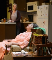 Kris Schinske and Pam Dougherty in 'night, Mother. MUTZ PHOTO