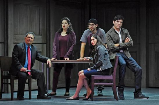 Cast of DEFERRED ACTION: Rodney Garza, Elizabeth Ramos, Arturo Soria, Ivan Jasso, Stephanie Cleghorn Jasso. Karen Almond photo